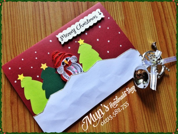 Christmas quilling card <3