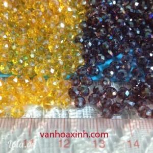 10 hạt phale acrylic tròn bẹp 5x4mm DPT85-5R
