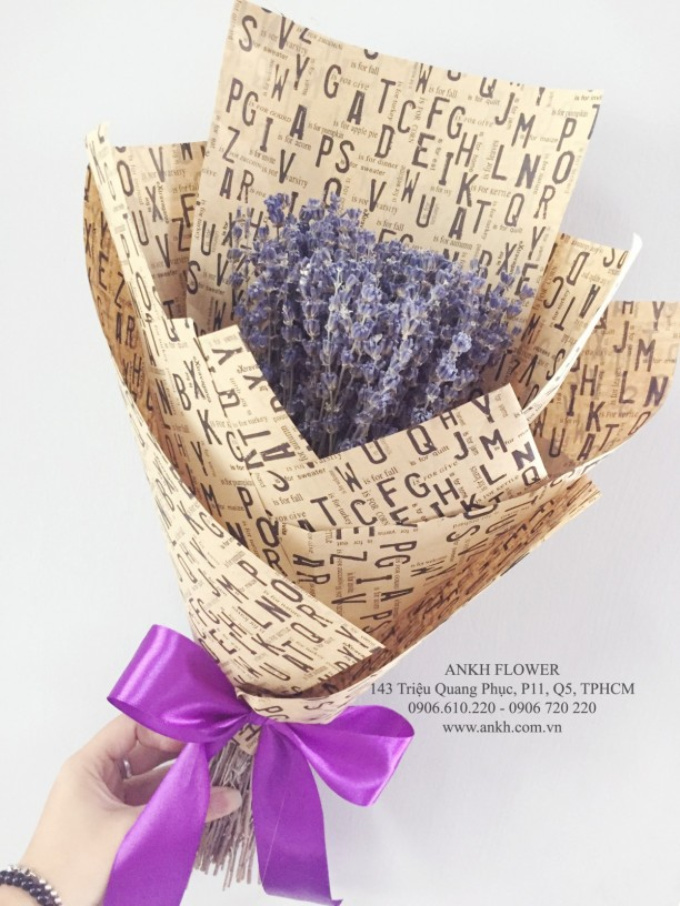 Bó hoa True Lavender
