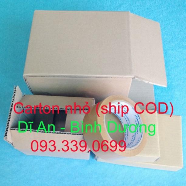 Bảng giá ship COD hộp carton nhỏ