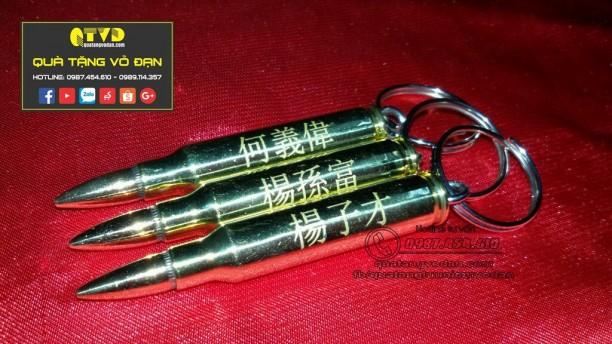 Móc khóa làm bằng vỏ đạn AR15 [FREESHIP]