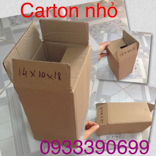 Hộp carton nhỏ ship COD