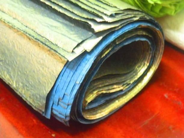 Giấy nhũ đồng / Golden Crumpled paper