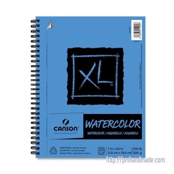 Tập giấy vẽ màu nước Canson XL 7