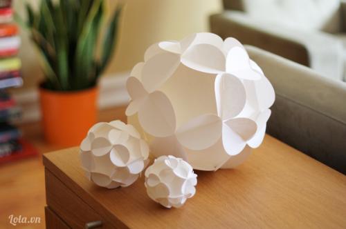 Làm quả cầu giấy 3D bằng giấy cực đẹp