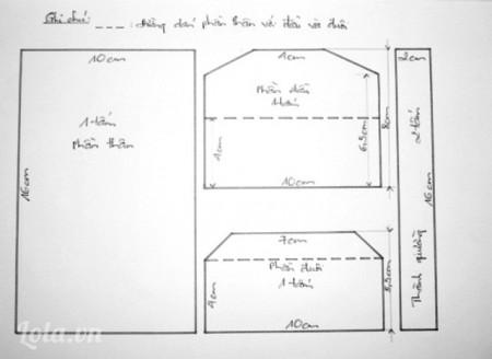 Cắt giấy mô hình thành các mảnh theo mẫu có sẵn.
