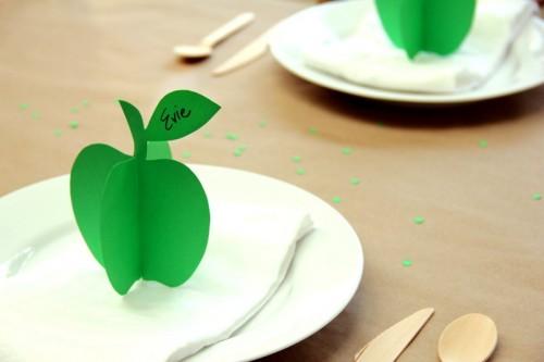 Làm card mô hình quả táo 3D