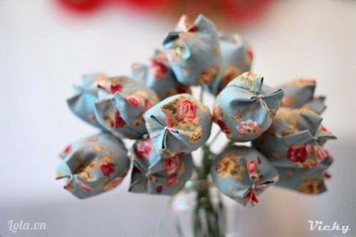 Hoa Tulip vải