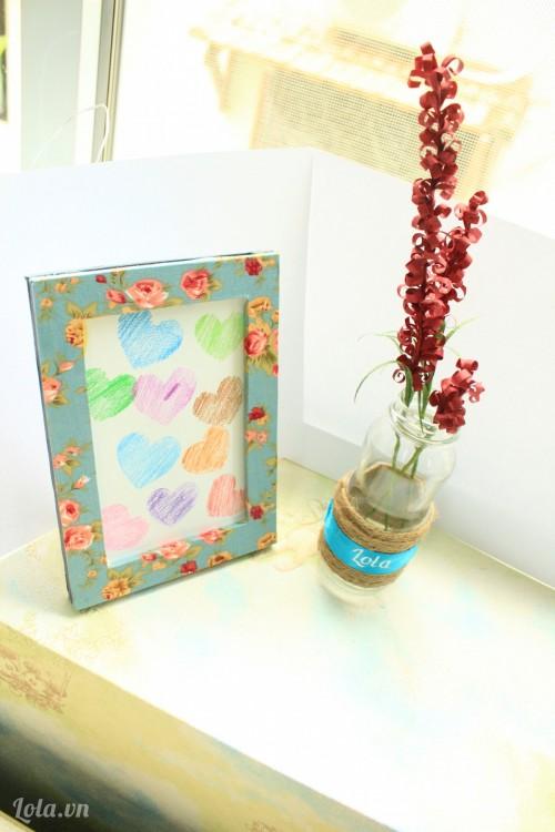 Làm hoa lam bằng giấy