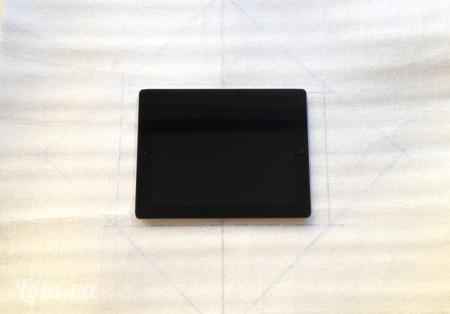 Vẽ đường 45 độ thong qua các góc vuông để tạo hình thành một viên kim cương . Hình dạng như bạn đang gấp một chiếc phong bì