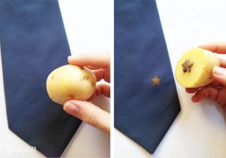 In hình lên chiếc cravat