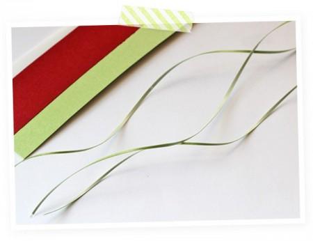 Cắt giấy thành những sợi mỏng