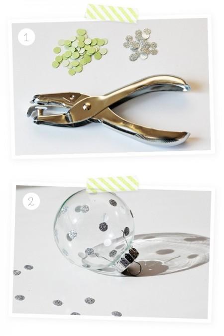Hoặc bạn có thể dùng dụng cụ để bấm những tấm nhỏ để trang trí