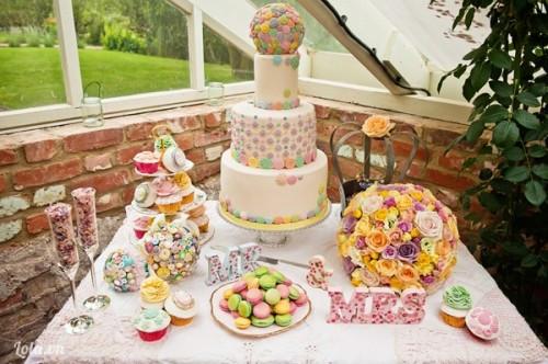 Bàn tráng miệng ngọt ngào cho đám cưới