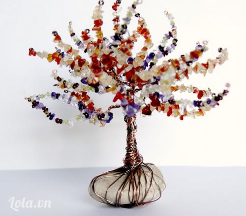 Làm cây pha lê xinh tươi từ hạt cườm