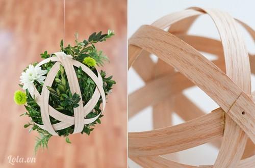 Làm chậu hoa xinh từ những miếng gỗ mỏng