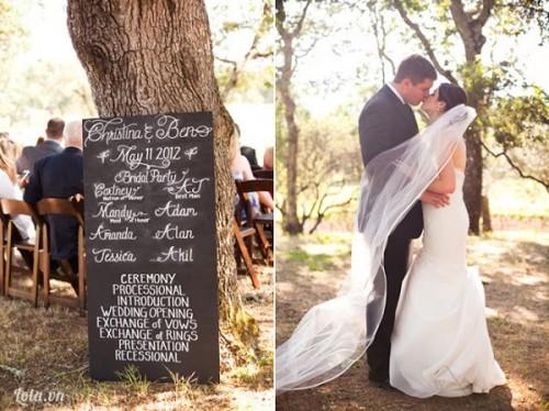 'Bảng đen phấn trắng' vui nhộn ở đám cưới