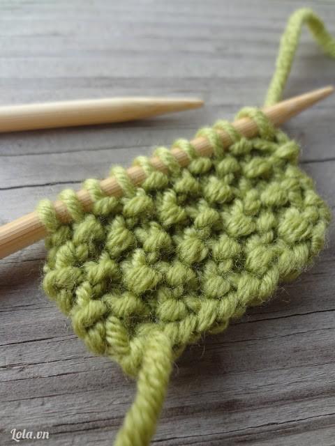 Đan khăn len đơn giản
