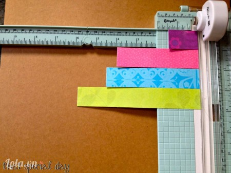 Mỗi trái tim được làm từ các đoạn giấy với số lượng và kích thước như sau (kích thước tính bằng inch): - 1 đoạn 1 x 1.5- 2 đoạn 1 x 4- 2 đoạn 1 x 4.5- 2 đoạn 1 x 6