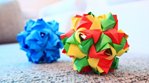 Quả cầu Little Roses (Kusudama)