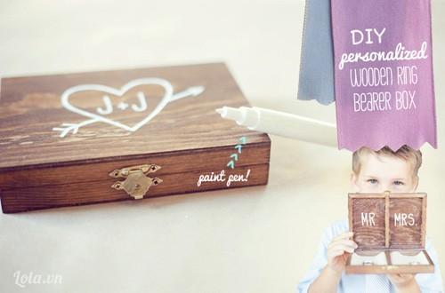 Làm hộp đựng nhẫn vintage cho ngày cưới
