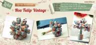 Lớp học hoa tulip vải vintage tháng 2