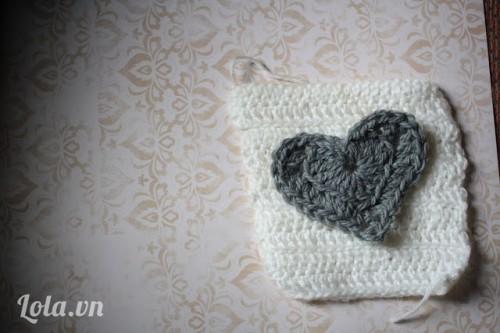 Tập đan móc trái tim