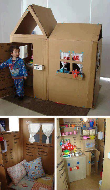 Thế giới thu nhỏ của bé từ thùng carton