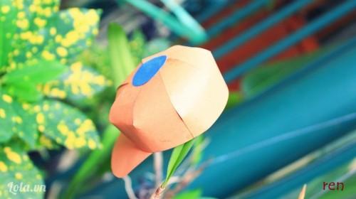 Gấp giấy làm nón mini