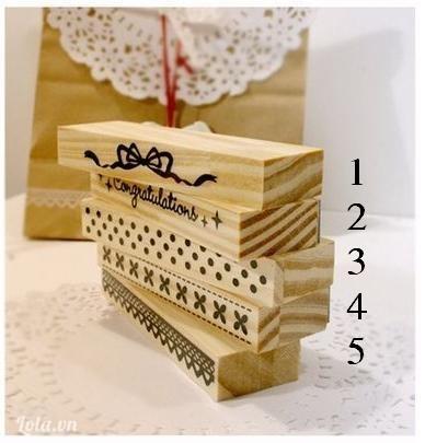 Dấu gỗ viền Koreo loại 2