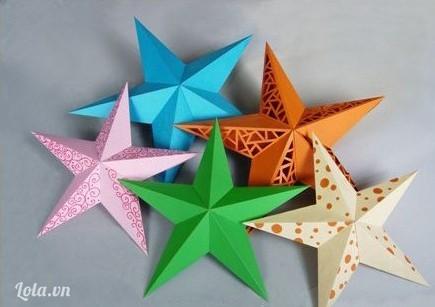 Làm ngôi sao giấy kirigami