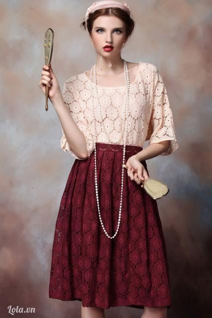 Cổ điển với xu hướng váy xòe