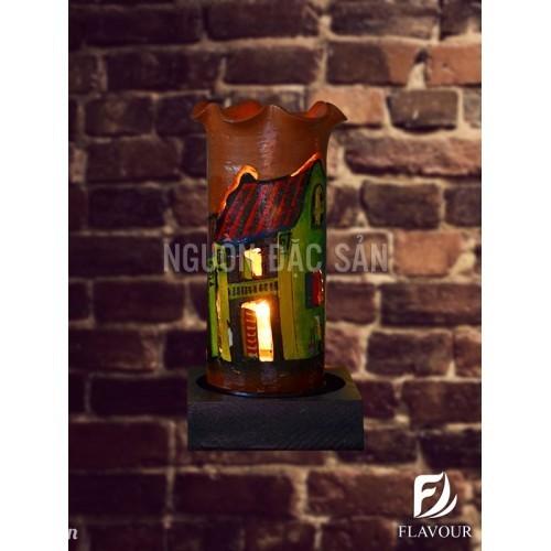 Đèn gốm điện DGD001 - Thủ công Hội An