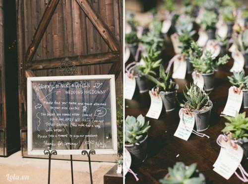 Ý tưởng quà cảm ơn ở đám cưới mùa hè