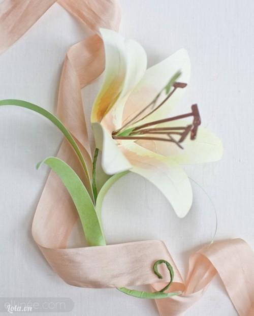 Cách làm hoa ly bằng giấy