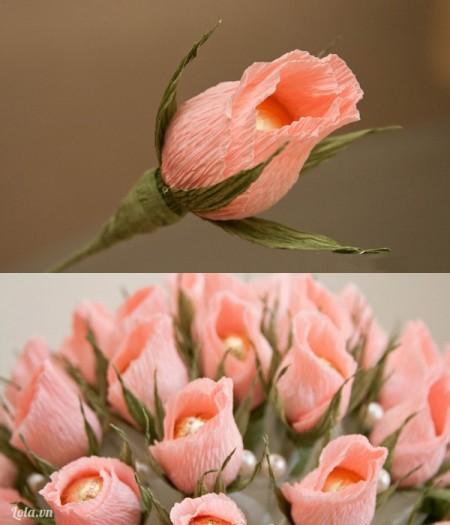Bông hoa hồng của bạn hoàn thành. Hãy làm thêm nhều bông tương tự như vậy nhé!