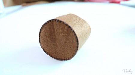 May phần đáy hình tròn vào phần thân tađược chậu hoa rùi này.