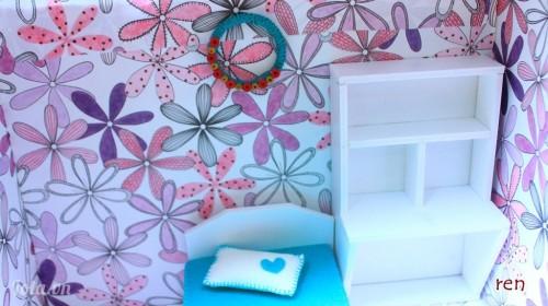 Làm vòng hoa treo tường trang trí nhà mini