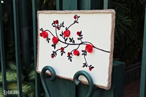 Làm tranh hoa Hồng từ giấy