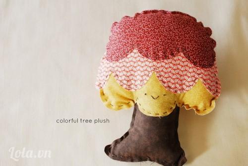 Làm cây nấm từ vải xinh