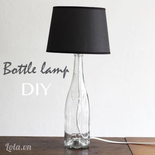 Chế tạo cây đèn ngủ từ chai lọ