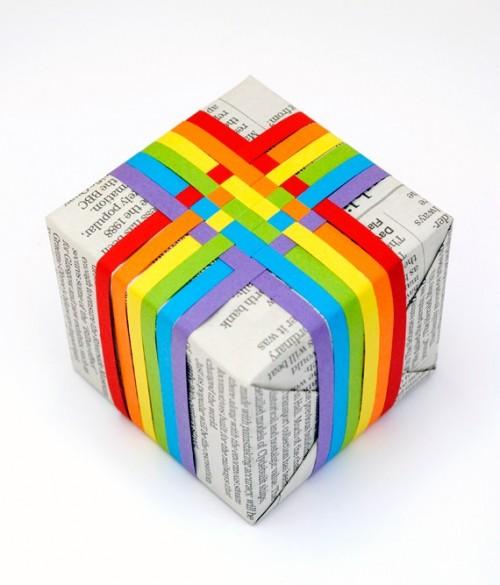 Đan giấy để trang trí quà