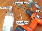 Cách điệu đèn trang trí từ chai thủy tinh