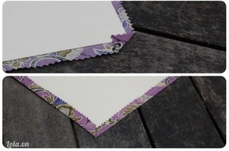 Bọc vải xung quanh tờ giấy. Rồi dùng keo dán lại