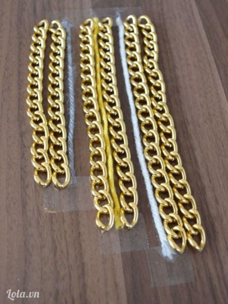 Đo chiều dài của dây với sợi dây xích