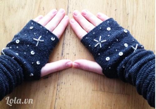 Làm găng tay cho ngày đông lạnh từ chiếc tất cũ