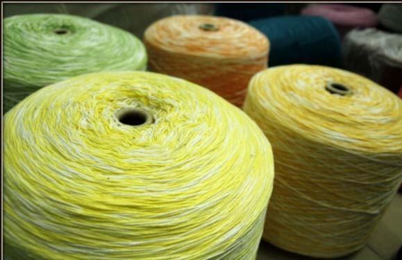 Len sợi các loại - Cotton Việt Nam sợi loang nhiều màu