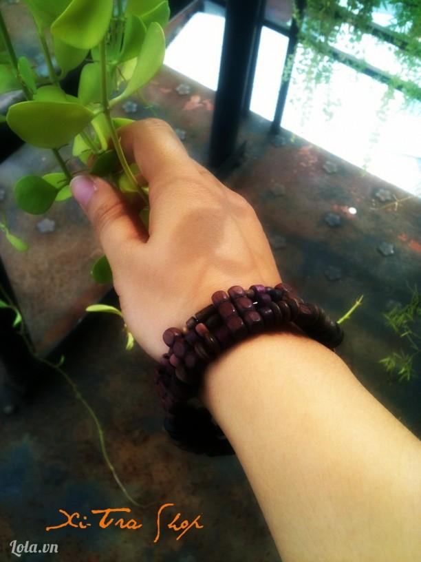 Vòng tay hạt gỗ handmade