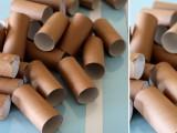 Trang trí tường nhà bằng lõi giấy ăn