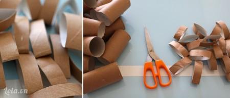 Bạn cắt các lõi giấy ra thành lõi mỏng